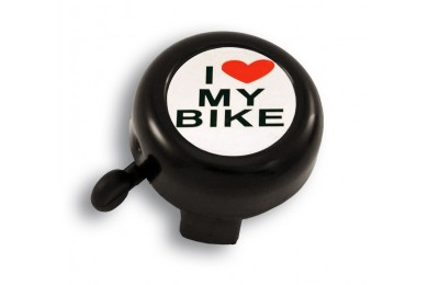 Велозвонок Green Cycle GBL-251 I love my bike cтальной синий