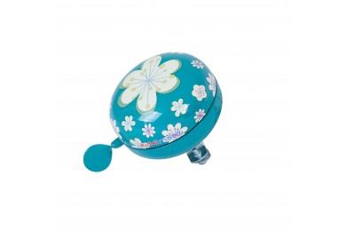 Велозвонок KiddiMoto цветы, голубой, большой