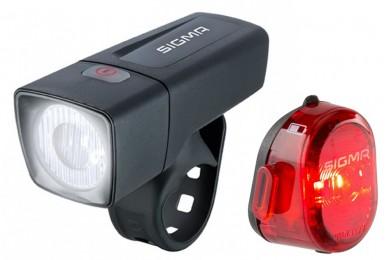 Комплект фонарей Sigma sport AURA 25 K-SET