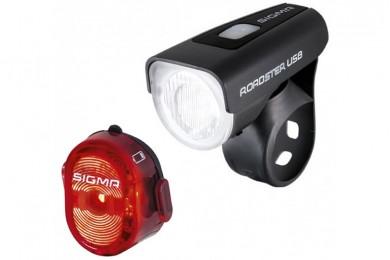 Комплект фонарей Sigma ROADSTER USB K-SET II